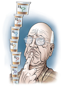 Any symptom in an elderly patient should be considered a drug side ...